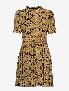 ROBE CASCADE - short dresses - ocre