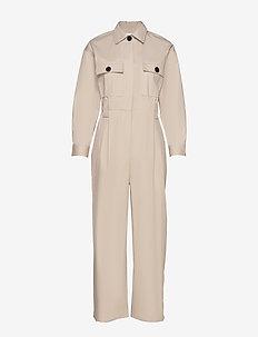 COMBINAISON CLOTHILDE - jumpsuits - beige