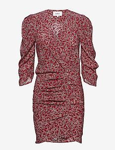 ROBE CRYSTAL - krótkie sukienki - carmin