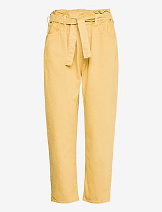 JALIA TROUSERS - mom-jeans - yellow