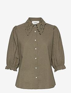 YSEULT SHIRT - kortärmade blusar - khaki
