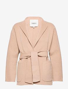 MANTEAU BLAME - vestes en laine - beige