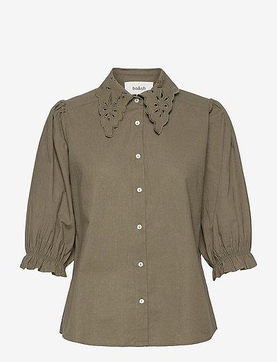 YSEULT SHIRT - kurzämlige blusen - khaki