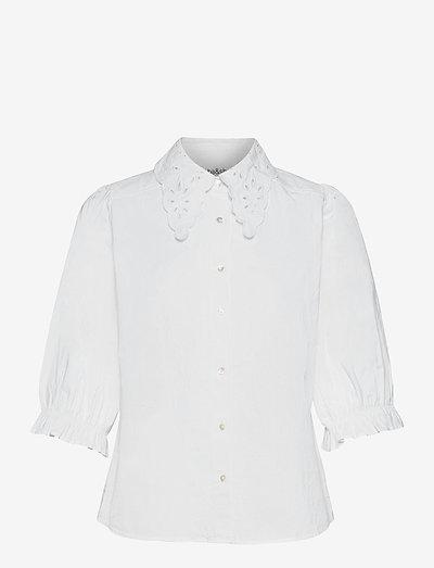 YSEULT SHIRT - kurzämlige blusen - white