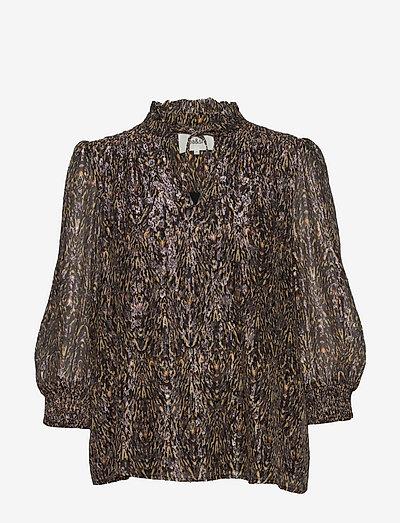 GALLAS TOP - long sleeved blouses - kaki