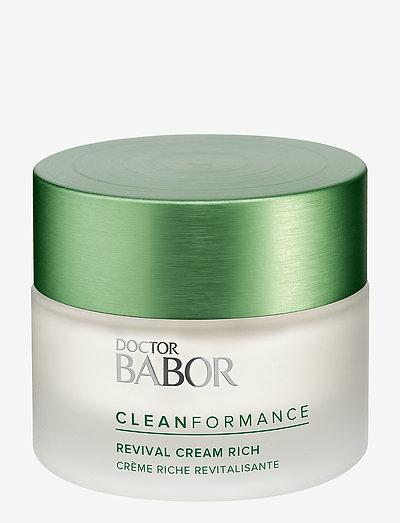 Cleanformance Revival Cream Rich - päivävoiteet - clear