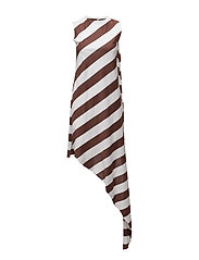 Jigsaw dress - CHESTNUT STRIPE
