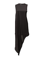 Broken hem dress - BLACK