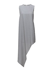 Broken hem dress - NAVY STRIPE