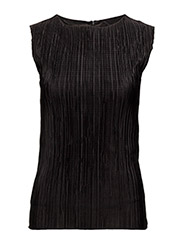 Pleat top - BLACK
