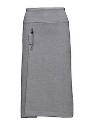 Pin sweat skirt - GREY MARL