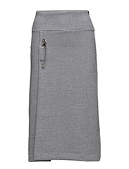 Pin sweat skirt - GREY MARL