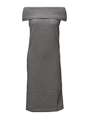 Cut off sweat dress - GREY MARL