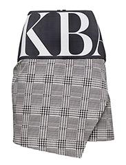 Huge logo woven skirt - DOGTOOTH