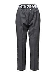 Logo elastic cropped trouser - CHARCOAL MARL