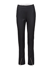 Zip suiting trouser - BLACK