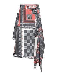 Monogram skirt - SCARF PRINT