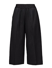 Wide logo elastic trouser - BLACK