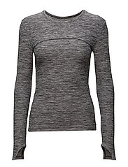 ROUND LS TOP - GREY MELANGE