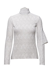 U FLAP LS TOP - WHITE LACE