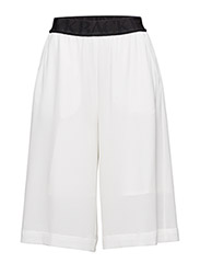 WIDE LOGO ELASTIC SHORTS - WHITE