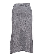 KNIT U SPLIT SKIRT - GREY MELANGE