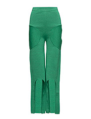 KNIT ABSTRACT TROUSERS - GREEN