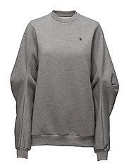 Elbow sweatshirt - GREY MEL