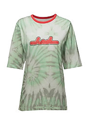 Box T-shirt - AOP TIEDYE GREEN