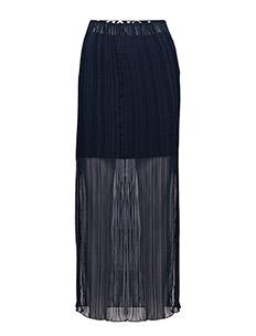 Slit pleat skirt - DARK BLUE