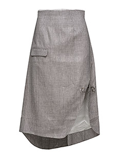 Pin suit skirt - GREY CHECKED
