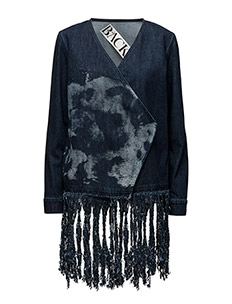 Fringed cardigan - DARK BLUE