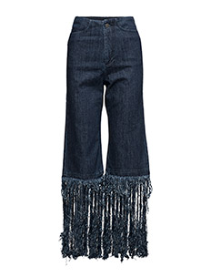 Fringed jeans - DARK BLUE