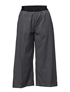 Wide logo elastic trouser - CHARCOAL MARL