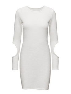 CUT OUT DRESS - OFF-WHITE