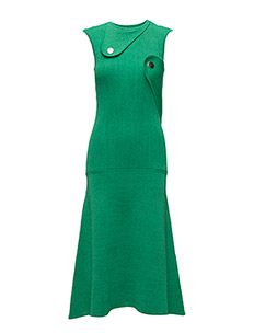KNIT ABSTRACT DRESS - GREEN
