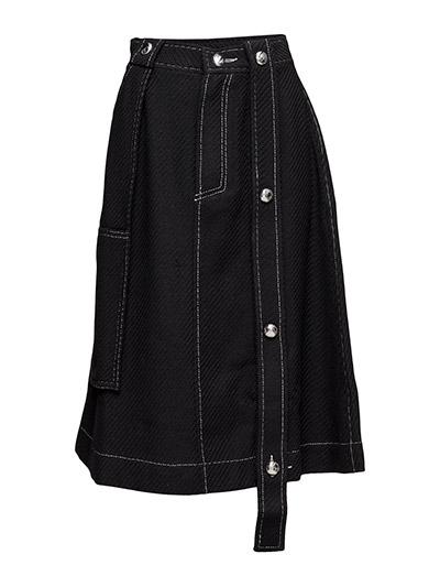 Button worker skirt - BLACK