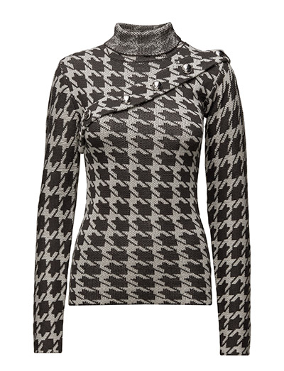 Knit button sweater - DOGTOOTH