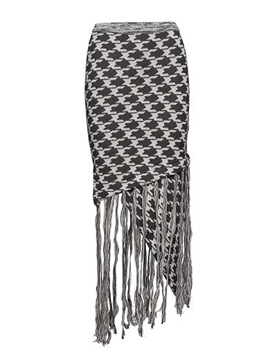 Knit fringe skirt - DOGTOOTH