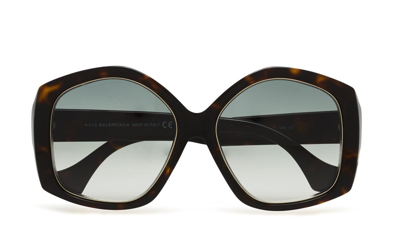 BALENCIAGA Sunglasses BA0049 - 52B - DARK HAVANA / GRADIENT SMOKE
