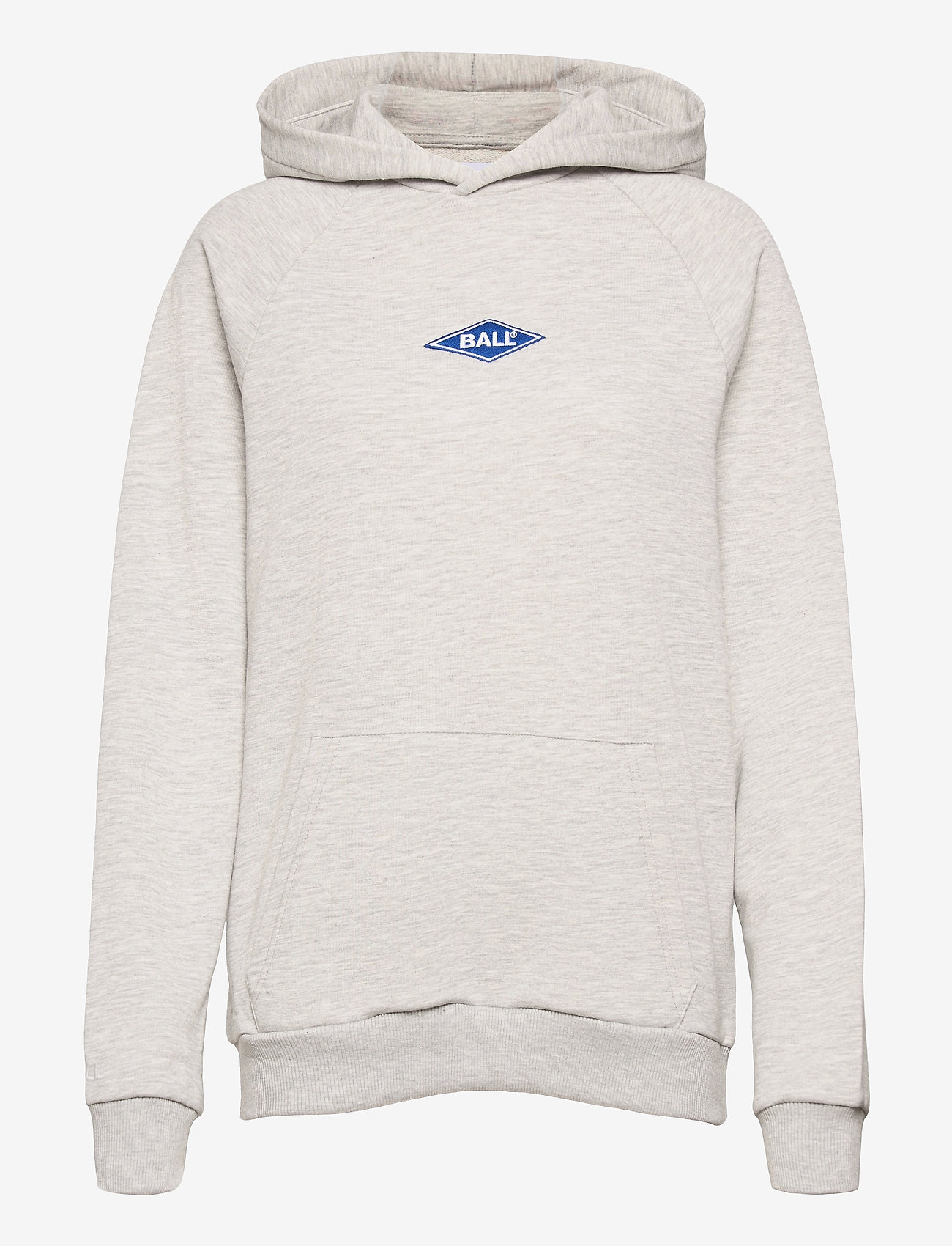 BALL - BALL RIMINI HOODIE - sweatshirts & hættetrøjer - lg melange - 0
