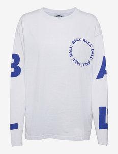 BALL LS TEE - lange mouwen - optical white