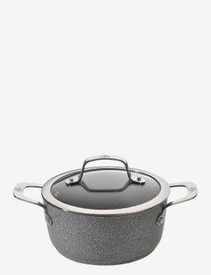 Salina Ti-X Granitium Stock pot with lid - kasseroller - gray