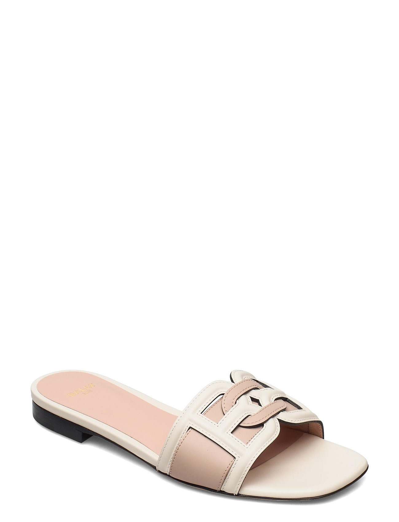 Image of Peoni Flat Shoes Summer Shoes Flat Sandals Creme Bally (3491148507)