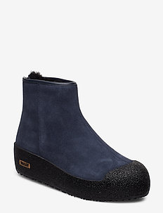 GUARD II - flat ankle boots - 46930 dk navy 1