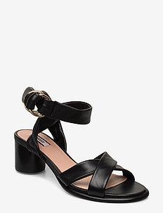 BLAIR 50/00 - høyhælte sandaler - black