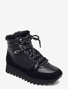 GAYE-FUR-SHARK/00 - flat ankle boots - black