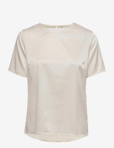 Molly t-shirt - kortermede bluser - ivory