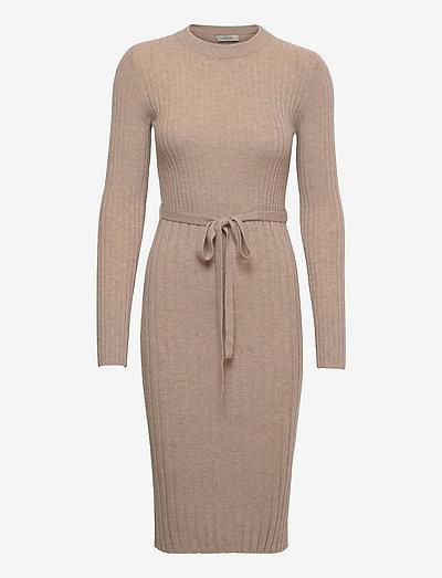 Edna rib dress - cocktail dresses - spelt
