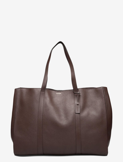 Ellie large tote - shoppers - brown/gold